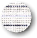 Canvas - Waste - 14ct - White - Blue Stripe Salvage